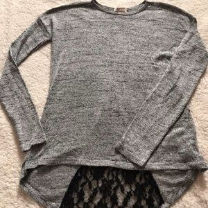 Black and gray tunic top